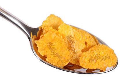 Corn flakes imprimés