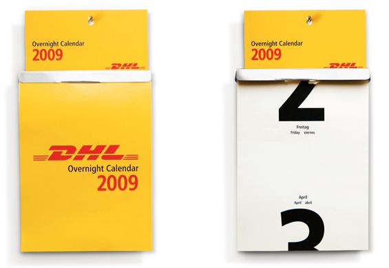 Calendrier publicitaire DHL