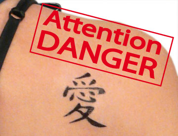 danger tatouage