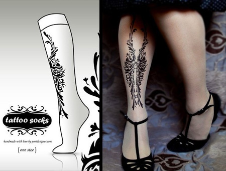 chaussettes tattoos