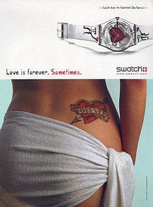 tatouages publicitaires