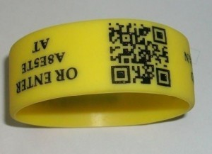 Les Bracelets silicone QR code