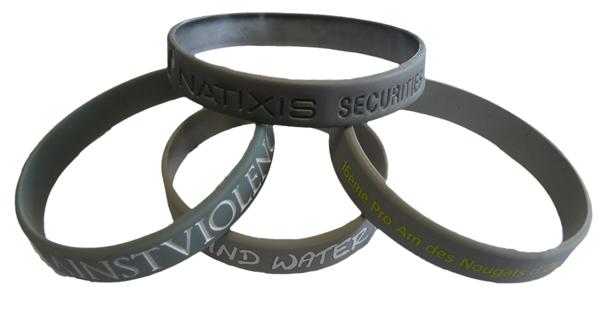 Montrez votre caractère avec les bracelets silicone métalliques !