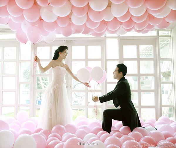 Les ballons personnalisés feront de votre mariage un conte