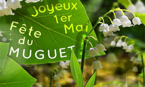 Le muguet porte-bonheur du 1er mai aussi est personnalisable!