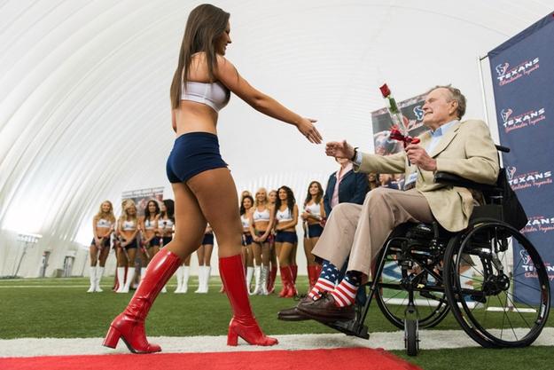 célébration  en chaussettes des 89 ans de George