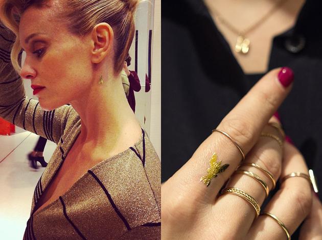 Les tatouages temporaires dorés comme Dior ou Patrizia Pepe