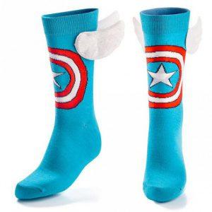 Les-chaussettes-personnalisees-ou l-accessoire-des-superheros-captain-America