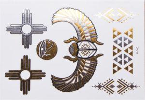 tatouages temporaires métalliques