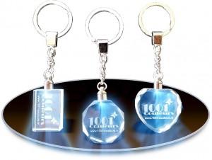 porte-clés cristal lumineux personnalisés