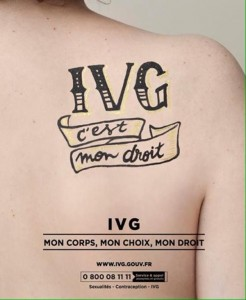 tatouage temporaire pour l'IVG