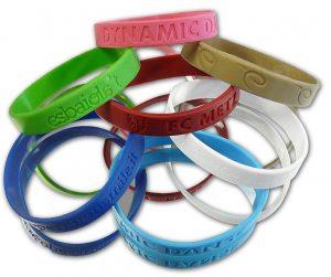 bracelets silicone marquage en creux