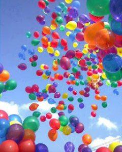 Ballons gonflés à l'hélium
