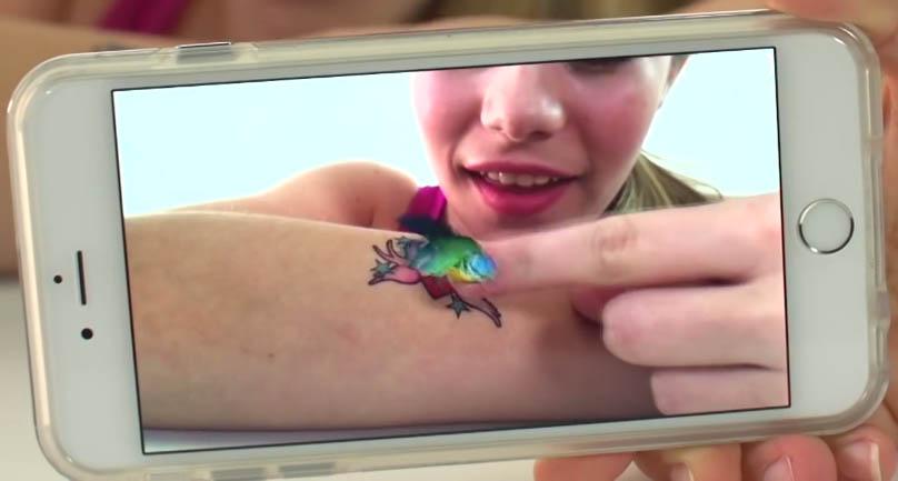 Des tatouages temporaires qui prennent vie !