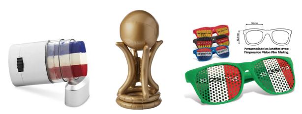 Les goodies personnalisés pour la coupe du monde de