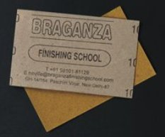 Braganza card