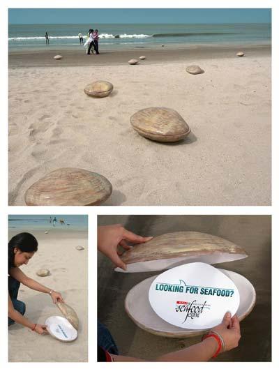 Objet publicitaire sur la plage