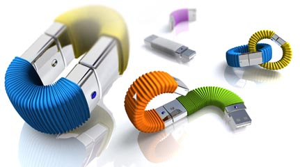 stackable USB drive